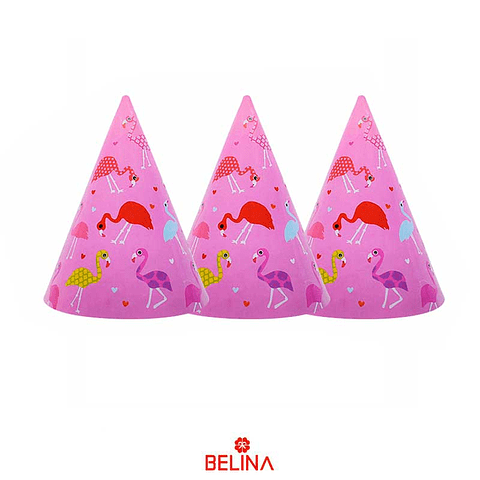 Gorro Carton Rosa Flamingo