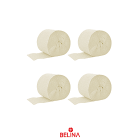 Feston decorativo beige 4pcs 6cm x 10M