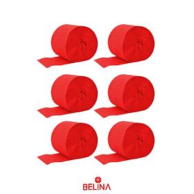 Feston grueso rojo 6pcs 3.5x10m