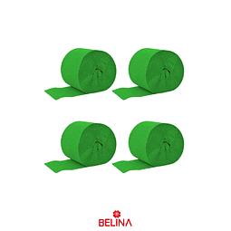 Feston decorativo verde 4pcs 6cm x 10M