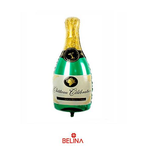 Globo Botella Metalico 50x100cm