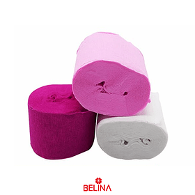 Feston rosa fucsia y blanco 6pcs