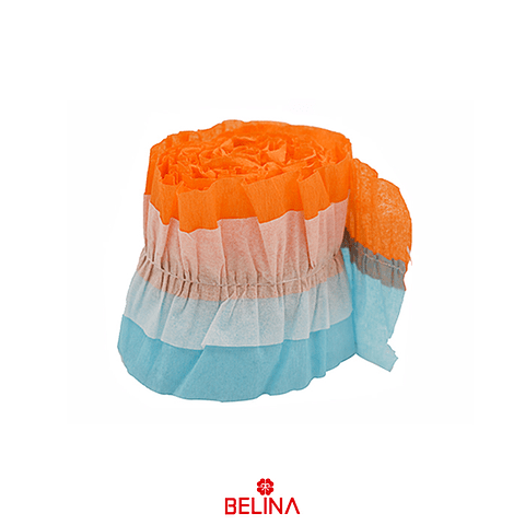 Feston Decorativo Naranja/Celeste 8x300cm 1pcs