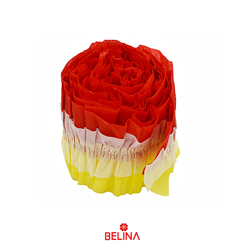 Feston decorativo rojo/amarillo 8x300cm 1pcs