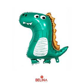Globo metalico dinosaurio verde 58 x 73cm