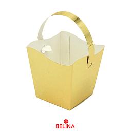 Cajas de carton con asa dorada 6pcs 7.5x7.5x8.5cm