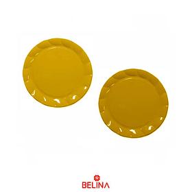 """Bandeja circular dorada 13""""-34cm 2pcs"""