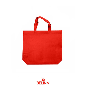 Bolsa De Genero Roja Con Asa 40x42cm