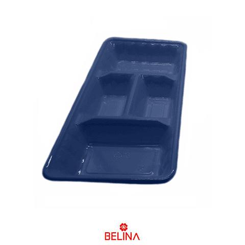 """Bandeja rectangular azul 2pcs 35"""" 18cm"""