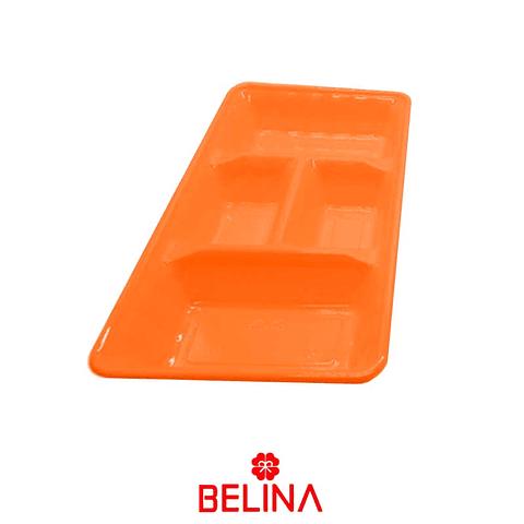 """Bandeja rectangular naranja 2pcs 35"""" 18cm"""