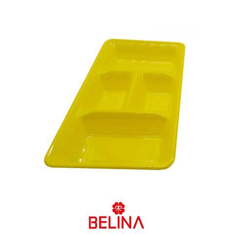 "Bandeja rectangular amarilla 2pcs 35"" 18cm"