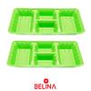 "Bandeja rectangular verde 2pcs 35"" 18cm"