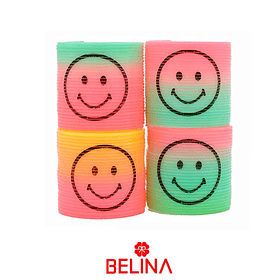 Sorpresa resortes 4pcs colores/pastel carita