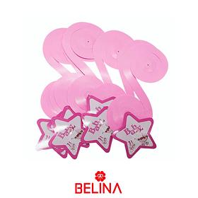Guirnalda espiral rosa