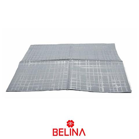 Papel de regalo blanco/plata brillante 4pcs 50x70cm