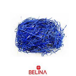 Relleno de papel metalico azul 20g