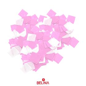 Papel Picado Cuadro Blanco/Rosa 10mm 40g