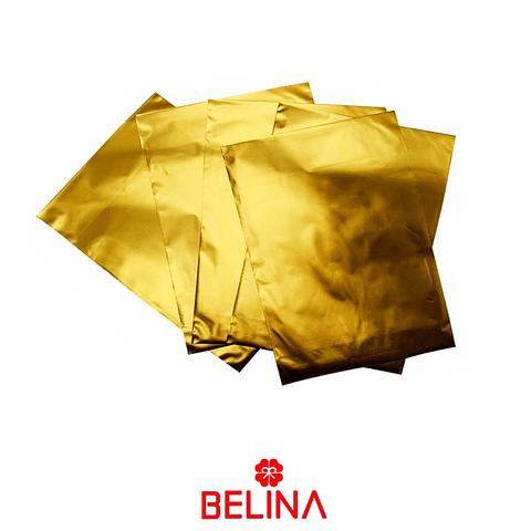 Envoltorio para regalo oro 17x22cm