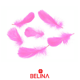 Plumas decorativas rosa 50pcs