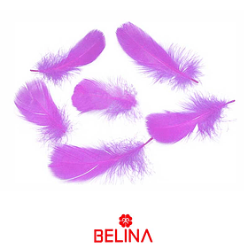 Plumas decorativas lila 50pcs