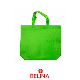Bolsa de genero verde con asa 40x42cm