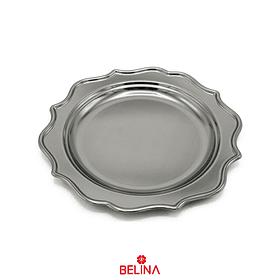 Plato metalico plata 6pcs 20cm