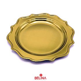 Plato grande oro 26cm 3pcs