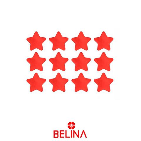 Challa Metalica De Estrellas Roja 30g