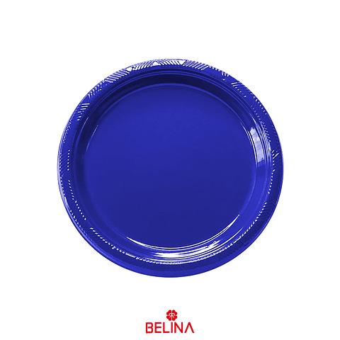 Plato Plastico Redondo18cm Azul