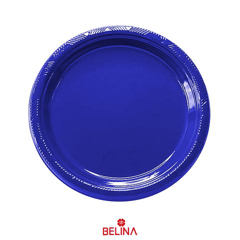 Plato Plastico Redondo 23cm Azul