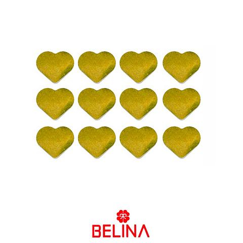 Challa metalica corazon dorado 30g