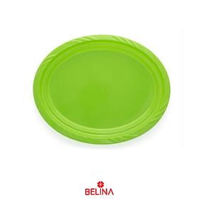 Bandeja plastica ovalada verde