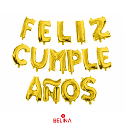 Globo feliz cumpleaños oro 16 pulgadas