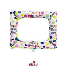 Globo marco selfie happy birthday colores