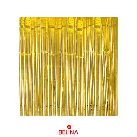Cortinas metalizadas 2m dorada