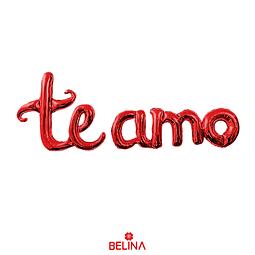 Globo Metálico Te Amo Rojo