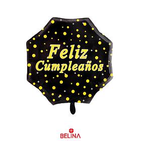 Globo metalico feliz cumpleaños negro 22 pulgadas