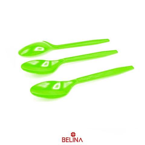 Cucharillas Plasticas Verdes 12pcs