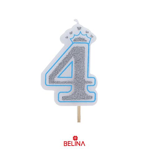 Vela con corona azul #4