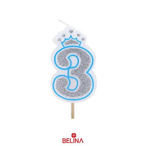 Vela con corona azul #3