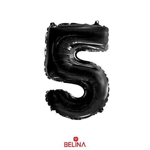 """Globo número 5 negro 30"""""""