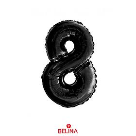 """Globo Número 8 Negro 30"""""""
