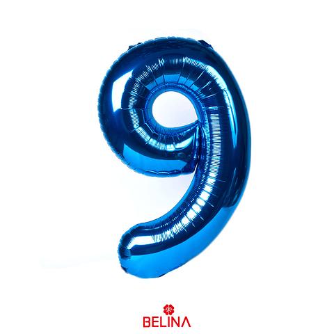 Globo Número 9 Azul 40 Pulgadas
