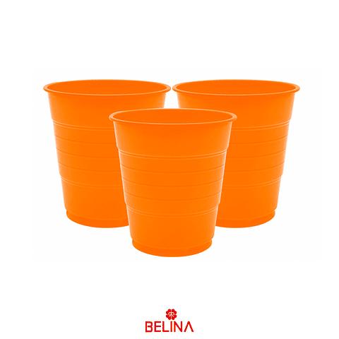 Vaso Plastico 410cc Naranja 10pcs