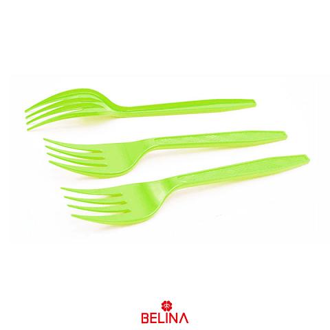 Tenedor Plastico Verde 12pcs