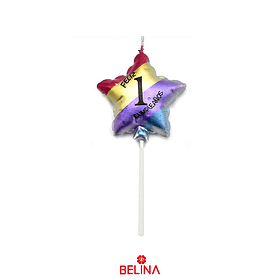 Vela estrella multicolor #1 11,5 cm