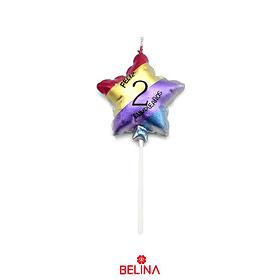 Vela estrella multicolor #2 11,5 cm