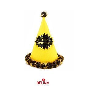 Gorro dorado/negro feliz cumpleaños