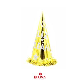 Gorro feliz cumpleaños dorado/plata