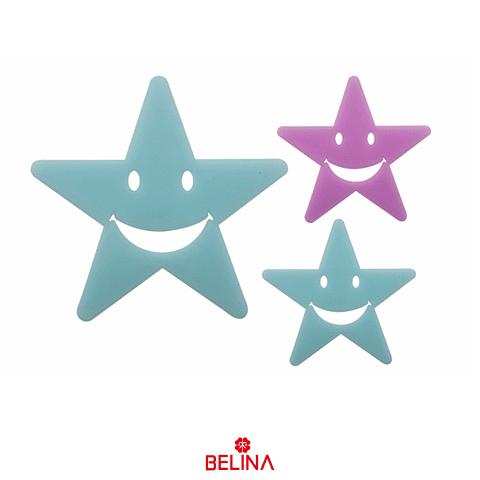 Sticker Fluor Estrellas Sonrientes